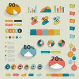 Collections of infographics design diagrams. Royalty Free Stock Photo