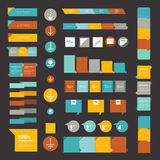 Collections of infographics flat design diagrams. Stock Photos