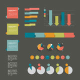 Collections of infographics flat design diagrams. Stock Image