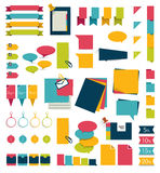 Collections of infographics flat design diagrams. Stock Images