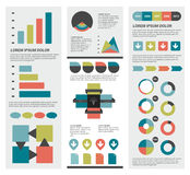 Collections of infographics flat design diagrams. Royalty Free Stock Photography