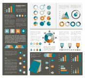 Collections of infographics flat design diagrams. Royalty Free Stock Photo