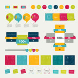 Collections of infographics flat design diagrams. Stock Photo