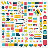 Collections of infographics flat design elements. Stock Images