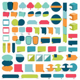 Collections of infographics flat design elements. Vector illustration Stock Illustration