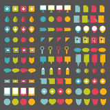 Collections of infographics flat design pointers. Stock Photos