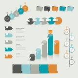 Collections of infographics flat design template. Royalty Free Stock Photography