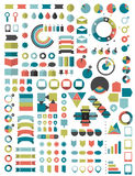 Collections of infographics flat design template. Royalty Free Stock Photo