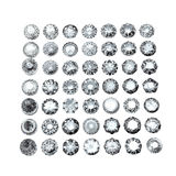 Collections of jewelry gems Stock Image