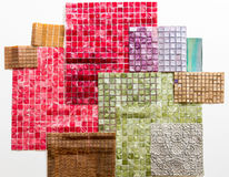 Collections of mosaics. For wall decoration Stock Photo