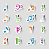 Collections of music notes Stock Photo