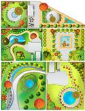 Collections od  Landscape Plan Royalty Free Stock Image