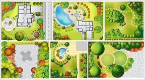 Collections od  Landscape Plan Stock Image