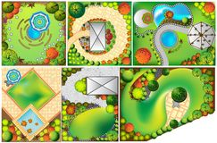Collections od  Landscape Plan Royalty Free Stock Photos