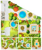 Collections od  Landscape Plans Stock Image