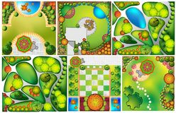 Collections od  Landscape Plans Royalty Free Stock Photography