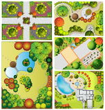 Collections od  Landscape Plans Royalty Free Stock Photos