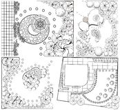 Collections od  Landscape Plans Stock Images
