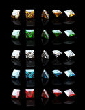 Collections of square gemstone Royalty Free Stock Photo