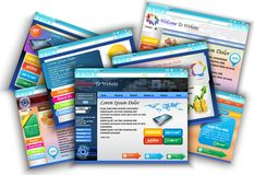 Collections of template. Business brochure to website Royalty Free Stock Images
