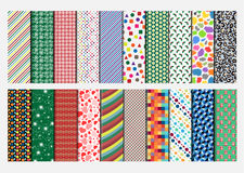 Collections of twenty simple wrapping paper in various colors for various events Stock Photo
