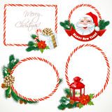 Collectiont of Christmas stickers and banners Royalty Free Stock Images