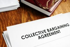 Collective bargaining agreement and note pad