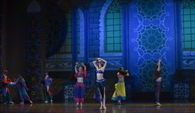 """Collective dance- ballet """"One Thousand and One Nights"""" Royalty Free Stock Photos"""