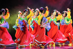 Collective dance---Korean dance Royalty Free Stock Photo