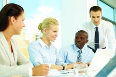 Collective discussion Stock Photo