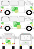 Collective transport unit with biological logo. Stock Image