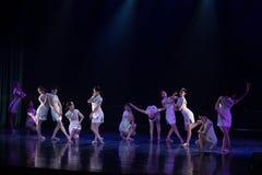 Collectivisme 7--Âne de drame de danse obtenir l'eau photo libre de droits