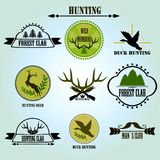 Collecton de label de club de chasse Vecteur Photo libre de droits