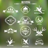 Collecton de label de club de chasse Vecteur Photos libres de droits