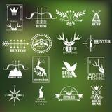 Collecton de label de club de chasse Vecteur Image stock