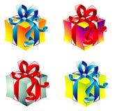 Collecton dei contenitori di regalo Fotografie Stock