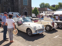 Collector's meeting of classic cars and motorbikes. LEMBEEK, BELGIUM - MAY 27: Collector's meeting of classic cars and motorbikes. The exhibition « Royalty Free Stock Images