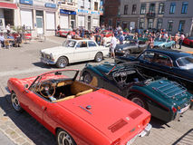 Collector's meeting of classic cars and motorbikes. LEMBEEK, BELGIUM - MAY 27: Collector's meeting of classic cars and motorbikes. The exhibition « Royalty Free Stock Image
