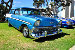 Collector cars exhibition. Royalty Free Stock Image