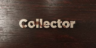 Collector - grungy wooden headline on Maple  - 3D rendered royalty free stock image Stock Photography