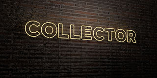 COLLECTOR -Realistic Neon Sign on Brick Wall background - 3D rendered royalty free stock image Royalty Free Stock Photos
