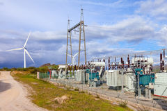 Collector Substation for a wind farm Royalty Free Stock Photography