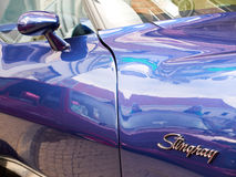 Collectors meeting of classic cars and muscle cars. Chevrolet Corevette Stingray. Royalty Free Stock Photo