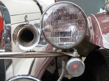 Collectors meeting of classic cars and muscle cars. Lights and horn. Stock Photography