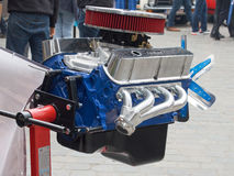 Collectors meeting of classic cars and muscle cars. New engine. Stock Photos
