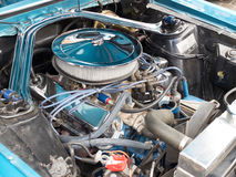 Collectors meeting of classic cars and muscle cars. Porwerfull engine. Stock Image