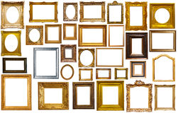 Collectrion of calssical art frames Stock Photography
