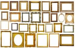 Collectrion des cadres calssical d'art Photographie stock libre de droits