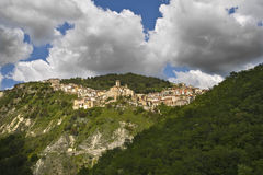 Colledimezzo. Panoramic View of the village of Colledimezzo in the province of Chieti Royalty Free Stock Images