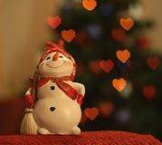 Collega allegro del ` s del nuovo anno di Snowy fotografie stock libere da diritti